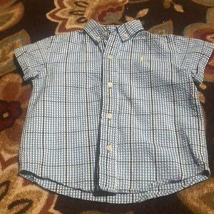 Ralph Lauren Button Down Plaid shirt size 2T